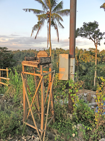 The captain's chair on Campuhon Ridge in Ubud, Bali, Indonesia.