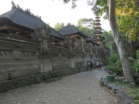 A scenic lane leading to Campuhon Ridge in Ubud, Bali, Indonesia.