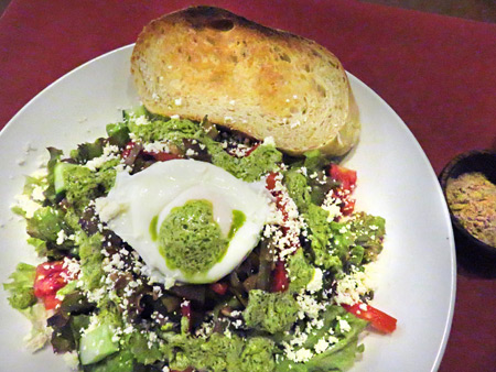 A yummy salad at Rio Helmi Gallery and Cafe in Ubud, Bali, Indonesia.