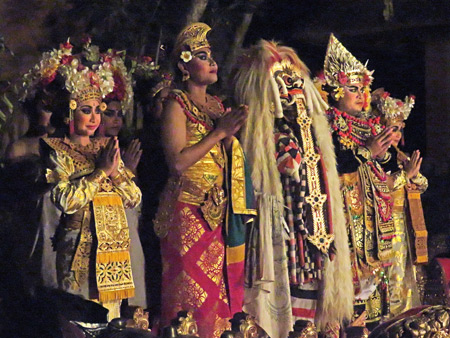 Sekehe Gong Panca Artha at Ubud Palace in Ubud, Bali, Indonesia.