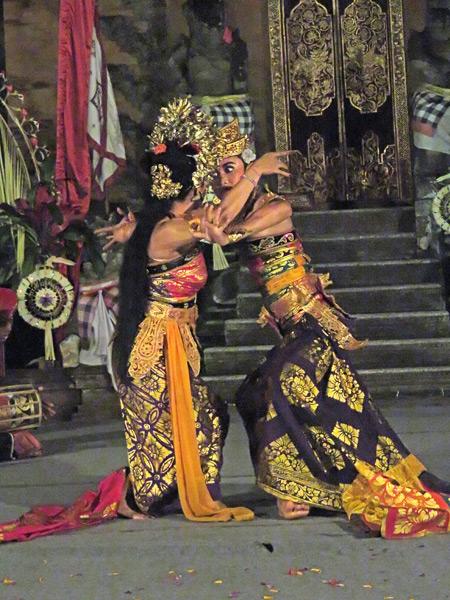 Gunung Sari performs the Oleg Tambulilingan at Puri Agung Peliatan in Peliatan, Bali, Indonesia.
