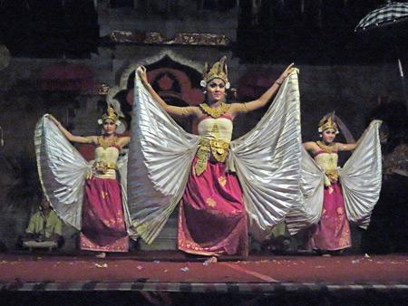 Suara Sakti performs the Belibus dance in Bentuyung, Bali, Indonesia.