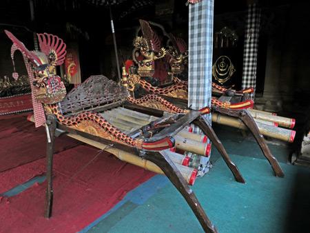 Suara Sakti bamboo gamelan in Bentuyung, Bali, Indonesia.