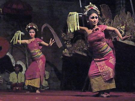 Suara Sakti performs the Panyembrama dance in Bentuyung, Bali, Indonesia.