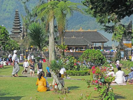 Pura Ulun Danu Bratan in Bedugul, Bali, Indonesia.