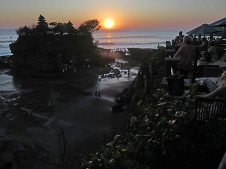 Pura Tanah Lot in Tabanan, Bali, Indonesia.