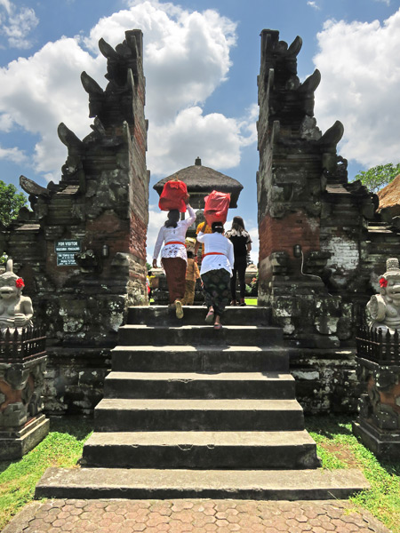 The front gate to Pura Taman Ayun near Mengwi, Bali, Indonesia.