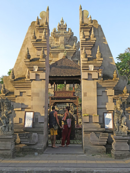 A gate at Pura Desa in Ubud, Bali, Indonesia.