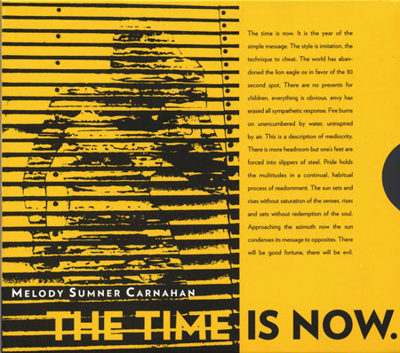Melody Sumner Carnahan - The Time is Now