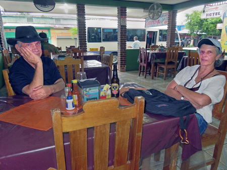 Ron and Carina at Restaurante Carolina in Puerto Jimenez, Costa Rica.
