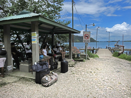 The docks at Golfito, Costa Rica.