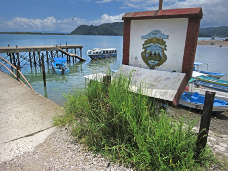 The docks at Golfito, Costa Rica.