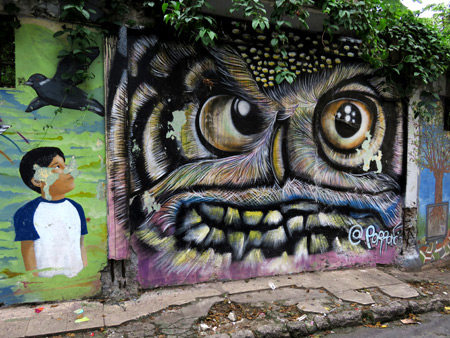 Woodsy the Owl all posted up in Casco Viejo, Panama City, Panama.