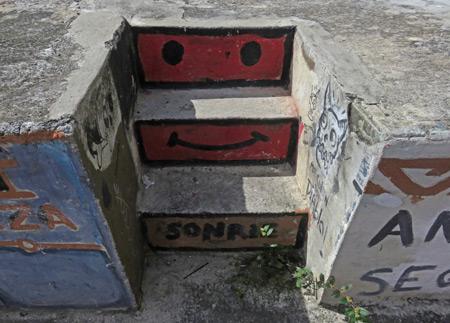 Happy stairs in Casco Viejo, Panama City, Panama.