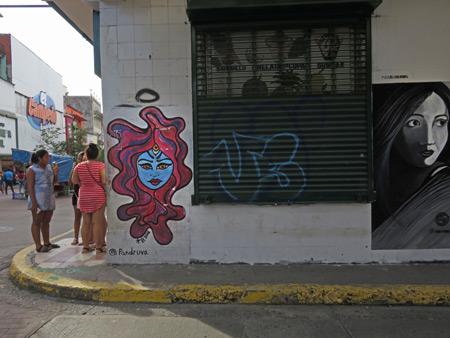Street art in Casco Viejo, Panama City, Panama.