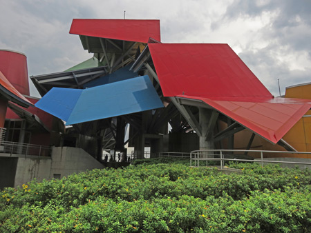 The Biomuseo designed by Frank Gehry in Panama City, Panama.