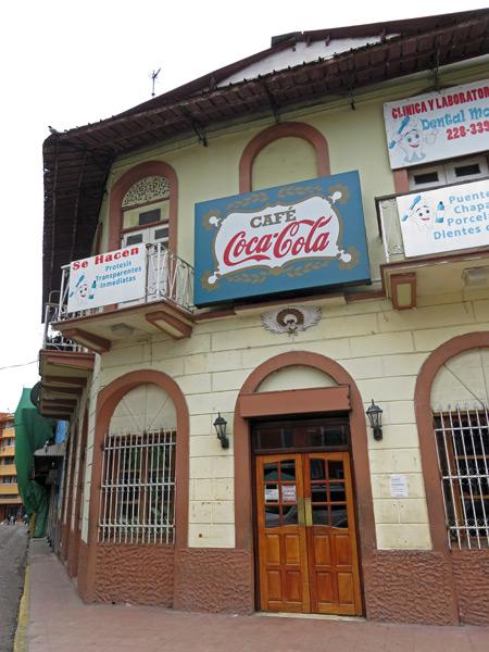 The Cafe Coca-Cola in Casco Viejo, Panama City, Panama.