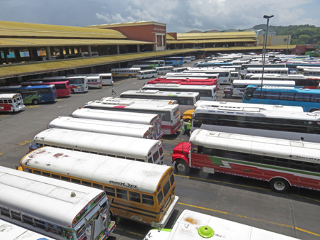 The Albrook Bus Terminal in Panama City, Panama.