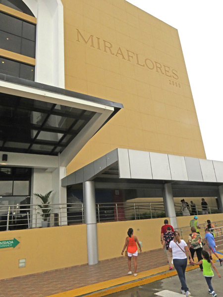 The entrance to the visitors center at the Miraflores Locks of the Panama Canal just outside Panama City, Panama.