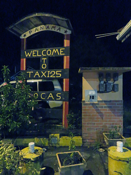 Welcome to Taxi 25 in Almirante, Panama.