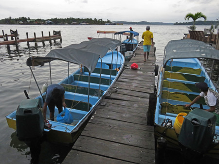The pier at Coopeguitour in Bocas del Toro, Panama.