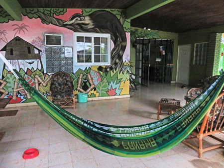 The entrance to the Bambu Hostel in David, Panama.