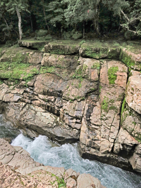 Some rapids at Los Cangilones de Gualaca, Panama.