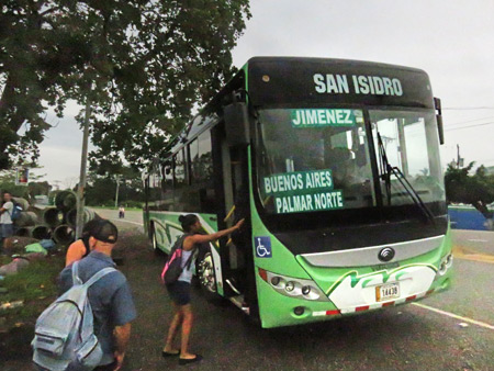 The bus, after I disembarked in Palmar Norte, Costa Rica.