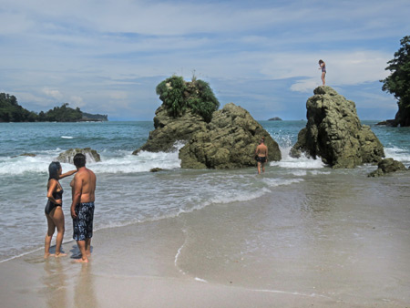 A cove at Playa Manuel Antonio in Manuel Antonio National Park, Costa Rica.
