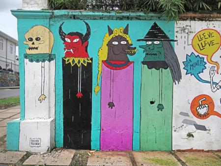 Street art in San Jose, Costa Rica.