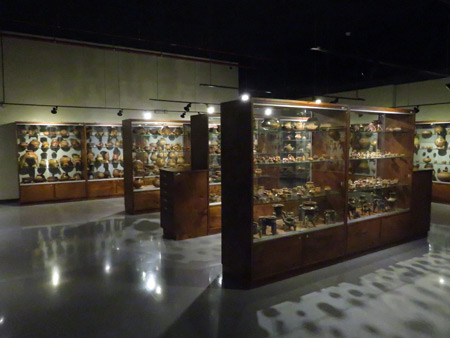 Hall 6, Visitable Collection, at the Jade Museum in San Jose, Costa Rica.
