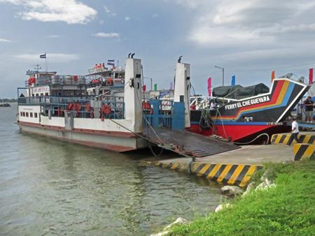 Ferries at the docks in San Jorge, Nicaragua.