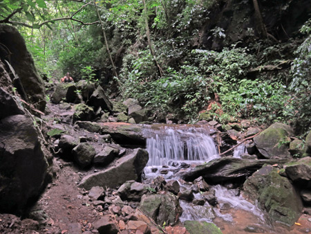 Some small falls during the hike back down from San Ramon Waterfalls on Volcano Maderas, Isla de Ometepe, Nicaragua.