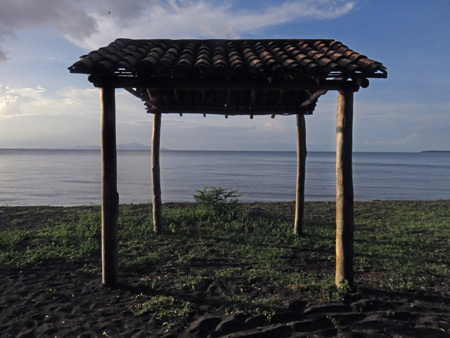 A small hut at Punta Jesus Maria on the west side of Isla de Ometepe, Nicaragua.