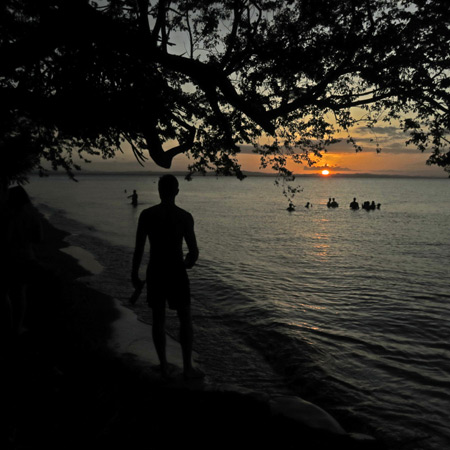 A perfect sunset at Punta Jesus Maria on the west side of Isla de Ometepe, Nicaragua.