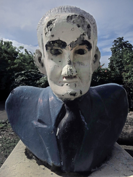 A statue of the President of the Universe in Moyogalpa, Isla de Ometepe, Nicaragua.