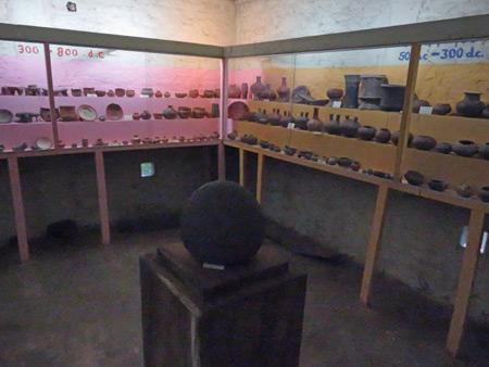 Display cases full in Museo el Ceibo on Isla de Ometepe, Nicaragua.