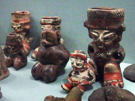 Pottery on display in Museo el Ceibo on Isla de Ometepe, Nicaragua.