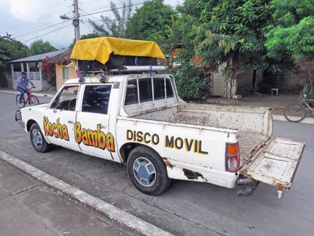 Kocha Bamba disco movil in Moyogalpa, Isla de Ometepe, Nicaragua.