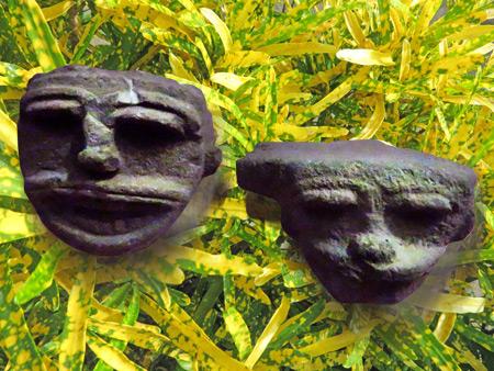Carvings at Museo el Ceibo on Isla de Ometepe, Nicaragua.