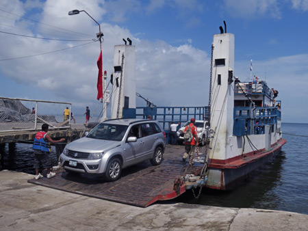 Loading the ferry in Moyogalpa, Isla de Ometepe, Nicaragua.