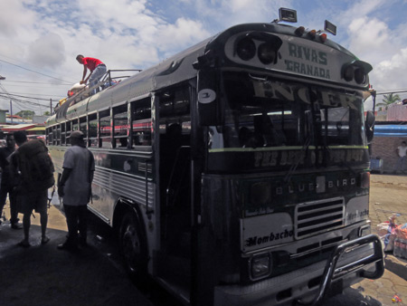 The chicken bus from Rivas to Granada, Nicaragua.