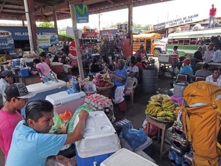 The bus terminal in Rivas, Nicaragua.