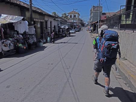 Walking into Granada, Nicaragua.