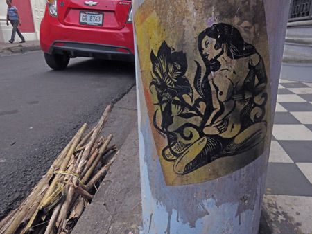 An attractive street scene in Granada, Nicaragua.
