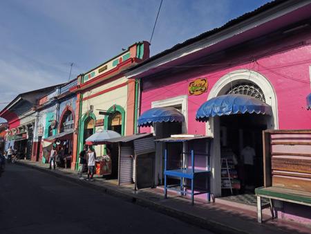 More color-splashed storefronts in Granada, Nicaragua.