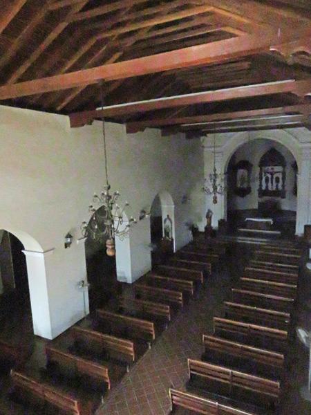 The interior of the Iglesia San Francisco in Granada, Nicaragua.