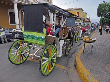 A horse-drawn carriage in Granada, Nicaragua.