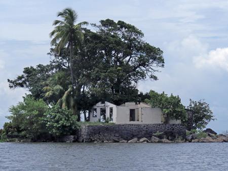 An abandoned house in Las Isletas de Granada, Nicaragua.