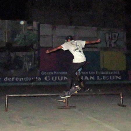 Holman Hernandez rips a flat bar in Leon, Nicaragua.